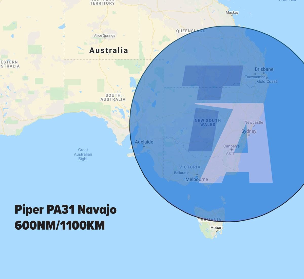 Piper PA31 Range