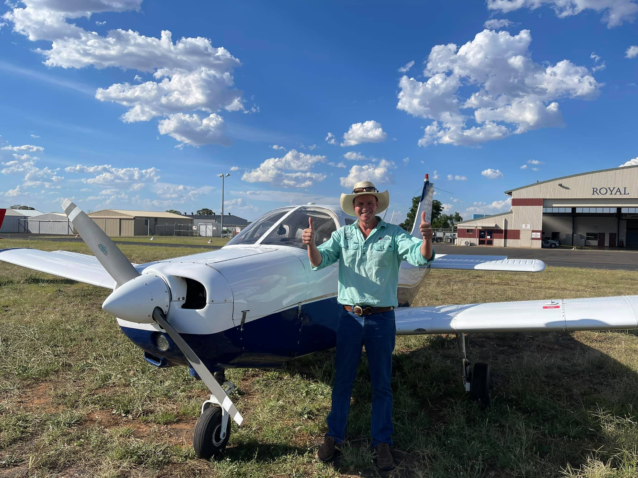 Congratulations to Dubbo's newest private pilot, Tom Tourle! Was a hot and bumpy test today 🥵 but Tom handled it well ✈️